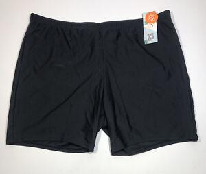 ATTRACO Plus Size Swimsuit Bottom for Women Tummy Control Swim Boyshorts Black 2