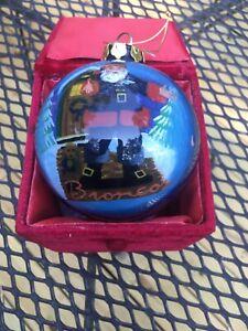 "Denver Broncos Large 12 1/2""Ornament Santa Christmas Ball The Memory Co. New"