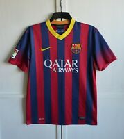 FC BARCELONA 2013/2014 HOME FOOTBALL SHIRT SOCCER JERSEY CAMISETA NIKE SIZE (M)