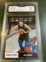 2019-20 NBA Hoops Luka Doncic Lights Camera Action Gma Mint 9 2nd Year Card Sgc