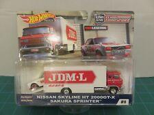 Hot Wheels Team Transport Nissan Skyline Ht 2000Gt-X Sakura Sprinter #8 Jdm L