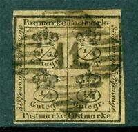 Germany 1857 Braunschweig 4/4 ggr Brown SG #12 VFU I21 ⭐⭐⭐⭐⭐⭐