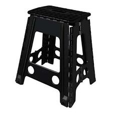 New listing Folding Step Stool, 18 inch Non-Slip Footstool for Adults or 18inch Black