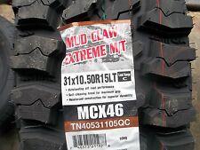 ONE New LT 31X10.50R15 Mud Claw Extreme M/T 109Q - MUD 4X4 OFFROAD MT 31X1050X15
