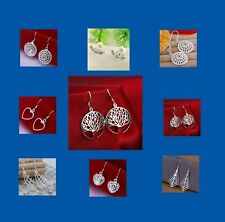 NEW 925 Sterling Silver Plated  Earrings 2 pairs Fashion Earrings Mixed Styles