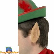 Soft Pointed Elf Ears Skin Coloured Christmas Mens Womens Fancy Dress Accessory