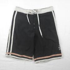 Oakley Mens Boardshorts Swim Trunks Pink Black Off White Stripe Surf Shorts 32