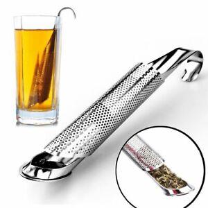 Tea Strainer Amazing Stainless Steel Infuser Pipe Holder Tool Spoon Filter Drink