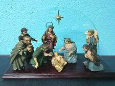 Vintage Christmas Nativity Mary Baby Jesus Kings all in one on stand