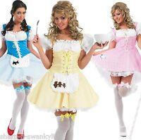 Ladies Sexy Bo Peep Goldilocks Dorothy Fancy Dress Costume Outfit 8-26 Plus Size