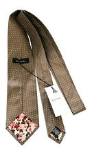 Paul Smith Silk Tie - Brown - small white dots - Polka Lining - 9cm Blade