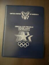 USA - OFFICIAL΄s COIN PROGRAM COIN BOOK LOS ANGELES 1984 + 1983 S/P/D UNC Silver