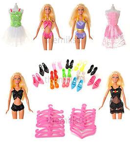 21 Pieces of Barbie Doll Dresses Clothes Underwear Bikini's Shoes Bundle Lot 2