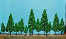 Multi Scale-Authentic Model Scenery-16 Pc Set-Full Leaf Green Pine Trees-5 Sizes