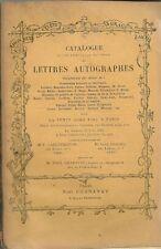 CATALOGUE AUTOGRAPHES BALZAC HUGO RUBENS COROT 1925