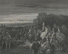 "1872 - Large Gustav Dore Engraving - ""Hampstead Heath""- London A Pilgrimage"