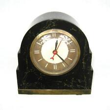 Fantastic Lackner NEON Glow Clock  Catalin Bakelite Dark Green