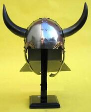 VIKING HELMET WITH HORNS METAL ~ MEDIEVAL COSTUME ARMOR ~ ARMOR