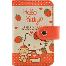 New Cute For Hello Kitty PU Leather Credit Card Membership Card Holder Bag Case