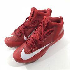 Nike Men's Zoom Trout Baseball Cleats Red White Metal 856503-667 SZ 12
