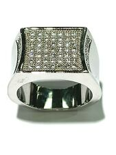 Sterling Silver Cubic Zirconia Men's Ring Size 9