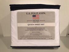 U.S. Polo Assn. Home Queen Sheet Set Pillowcases Fitted Sheet Flat Sheet NEW!