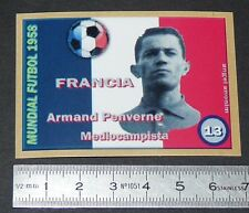 FRANCE ARMAND PENVERNE STADE REIMS COUPE MONDE FOOTBALL 1958 STYLE PANINI