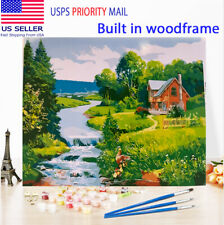 Paint by Number Kit Usa Diy Oil Painting With Frame for Adults kids Water Fall