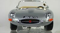 Bburago 1:18 Jaguar E Type Coupe Silver Rare Toy Model 18-12044 Car Convertible