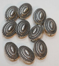 Beads Silver Southwest Etched Oval  25mm