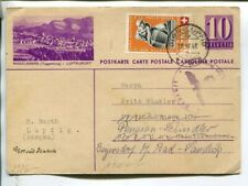 Switzerland uprated censor illustrated postal card to Germany 30.4.1940