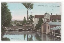 Iton River au Pont St Leges Evreux Eure France 1910s postcard