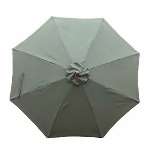 9ft Replacement Market Umbrella Canopy 8 Ribs in Sage Green (Canopy Only)