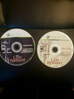 Microsoft Xbox 360 The Last Remnant  tested working  2 DISCs ONLY