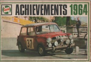 1964 Castrol Achievements Booklet Wakefield Oils with Black and  White Photo's