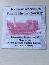 Genealogy: Railway Ancestors Family History Society Journal 43 CD