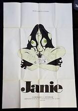 RARE XXX Movie JANIE VINTAGE Adult Poster Starring MARY JANE CARPENTER - porno