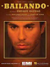 Bailando Sheet Music Piano Vocal Enrique Iglesias NEW 000138501