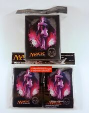 80 Ultra Pro Sleeves + deckbox Set-Mana 4 BLACK Liliana