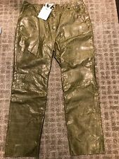 Christian Dior Boutique Paris Green Leather Pants - Vintage Stock (NWT) (S-14)