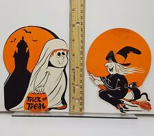 Halloween cutout Decoration die cut Peck child ghost cute witch Lot 2 small