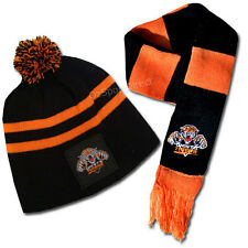 Wests Tigers Baby Beanie Hat and Scarf Set