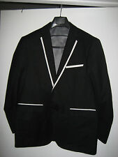 Ferrecci Mens 40S Black  Two Button JACKET