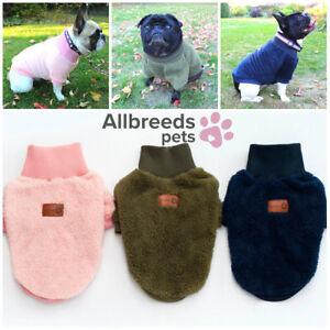 Allbreeds Fleece Dog Jumper High Neck Winter Coat Puppy French Bulldog Jacket