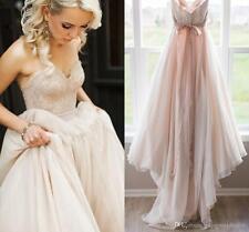 Spring Summer Beach Wedding Dresses Sleeveless Lace Bridal Gowns Custom