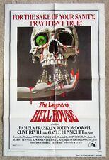 LEGEND OF HELL HOUSE ORIGINAL 1973 1SHT MOVIE POSTER FLD EX