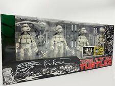 NECA Teenage Mutant Ninja Turtles Black White B&W 2008 SDCC 4 Figure Set Eastman