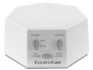 LECTROFAN White Noise Machine Fan Sound Generator with UK/US/EU Plugs - WHITE