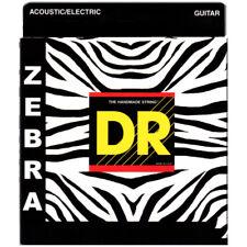 DR Strings ZAE-11 Zebra Acoustic Medium Lite Guitar Strings (11-50) +Picks