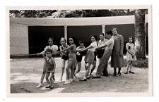 PHOTO ANCIENNE Jeu du tir à la corde 1938 École ? Maillot de bain Enfant Robe